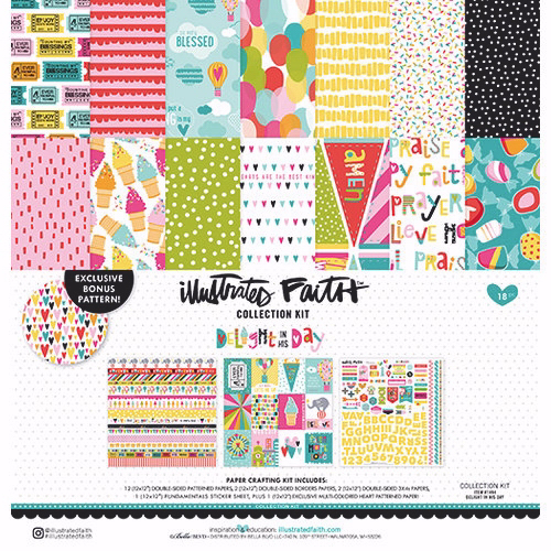 """Illustrated Faith Collection Kit 12"""" x 12"""" - Delight In His Day"""