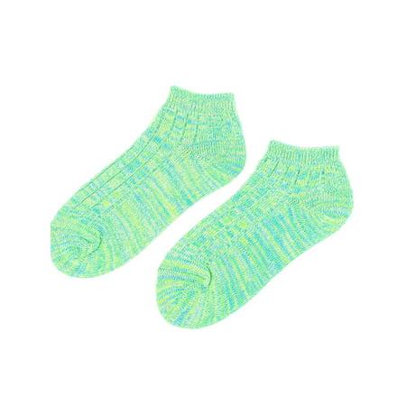 Men Elastic Low Cut Cuffs Ankle Length Short Socks