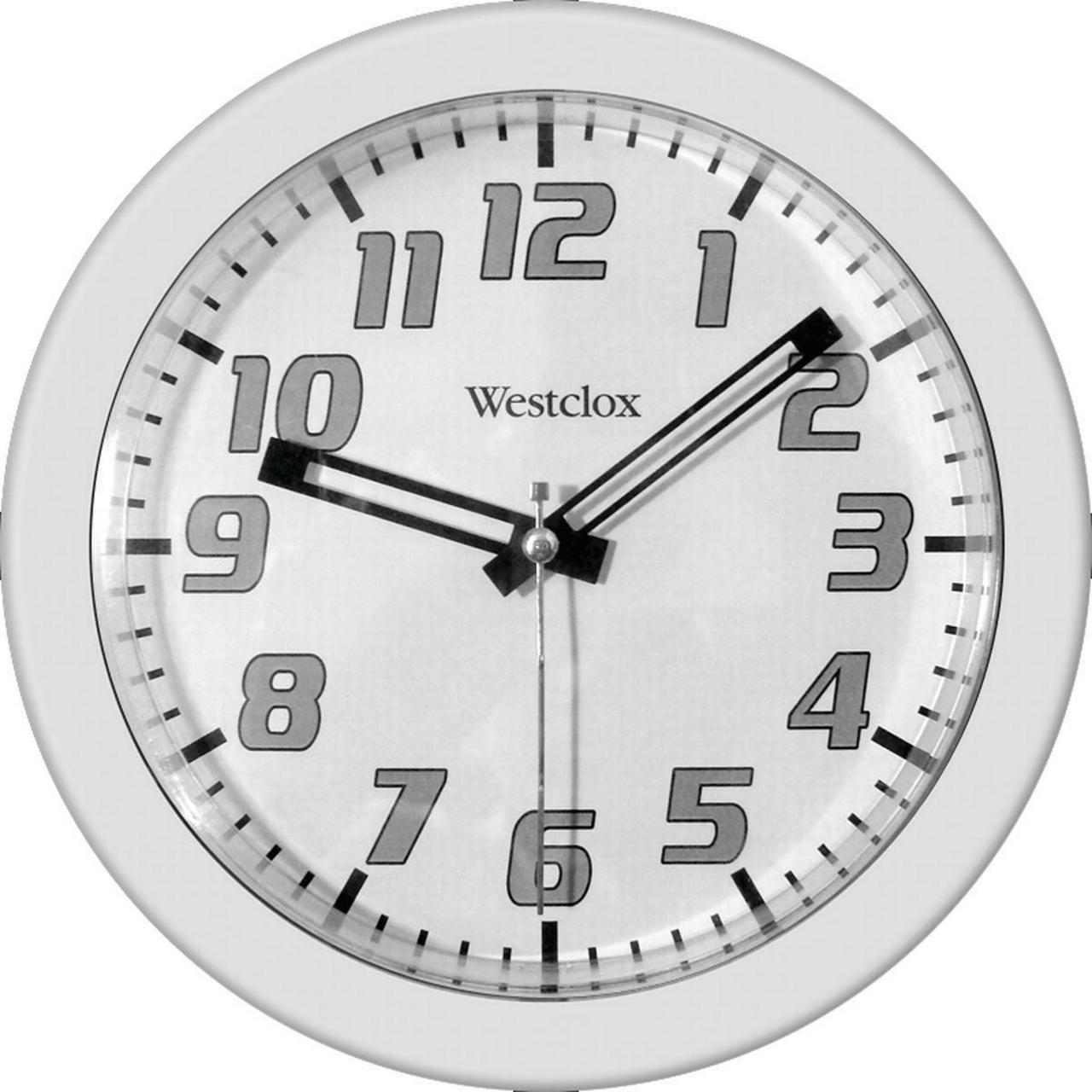 CLOCK WALL RND 7-3/4IN WHITE