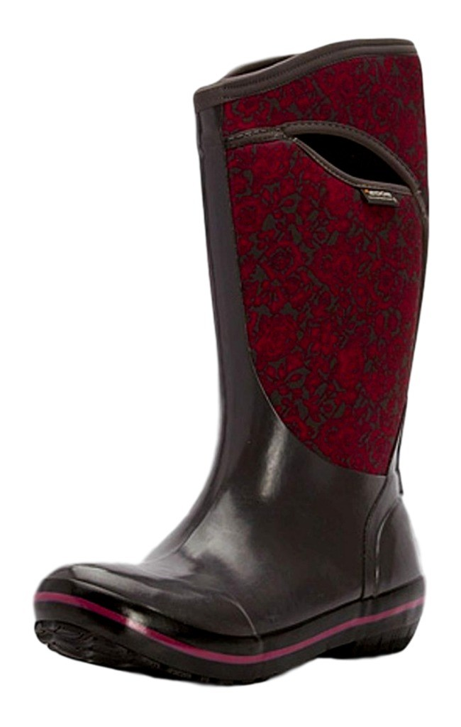 Bogs Boots Womens Plimsoll Quilted Floral Tall WP Rubber 71542 by Bogs