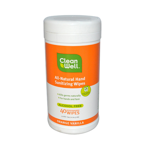 CleanWell Hand Sanitizing Wipes - Orange Vanilla - 40 Count