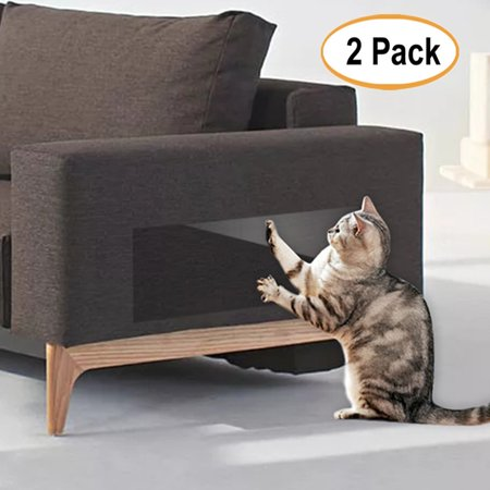 2Pcs Anti Scratch Mattress Couch Protector for Cats, Stop Pets from Scratching Furniture, Chair and Sofa Deterrent Guards, Corners Scratch Cover, Claw Proof Pads for Door and Wall