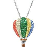 "Swarovski Element Sterling Silver Balloon Pendant, 18"" Necklace"