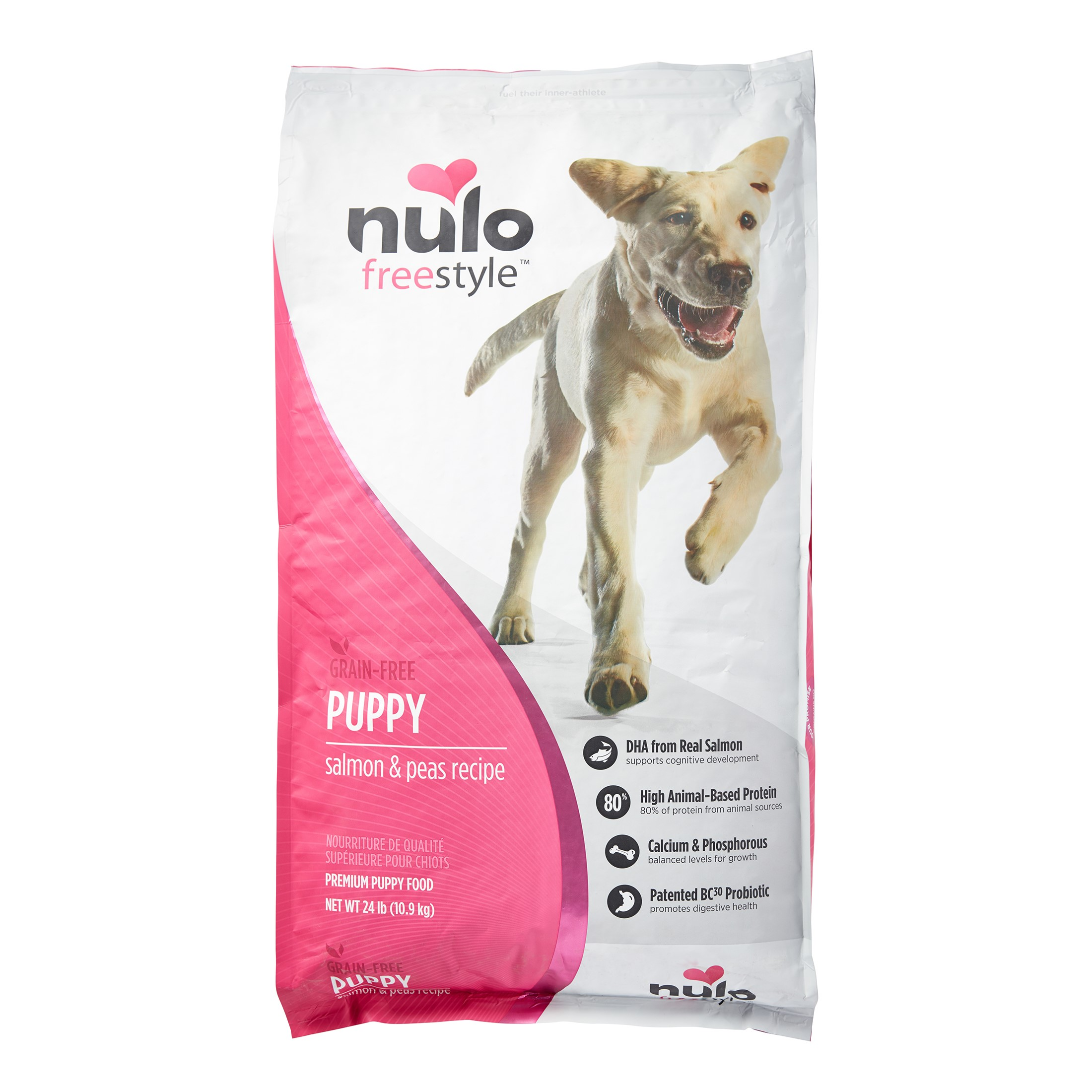 Nulo Freestyle Grain-Free Salmon & Peas All Breeds Puppy Dry Dog Food, 24 Lb