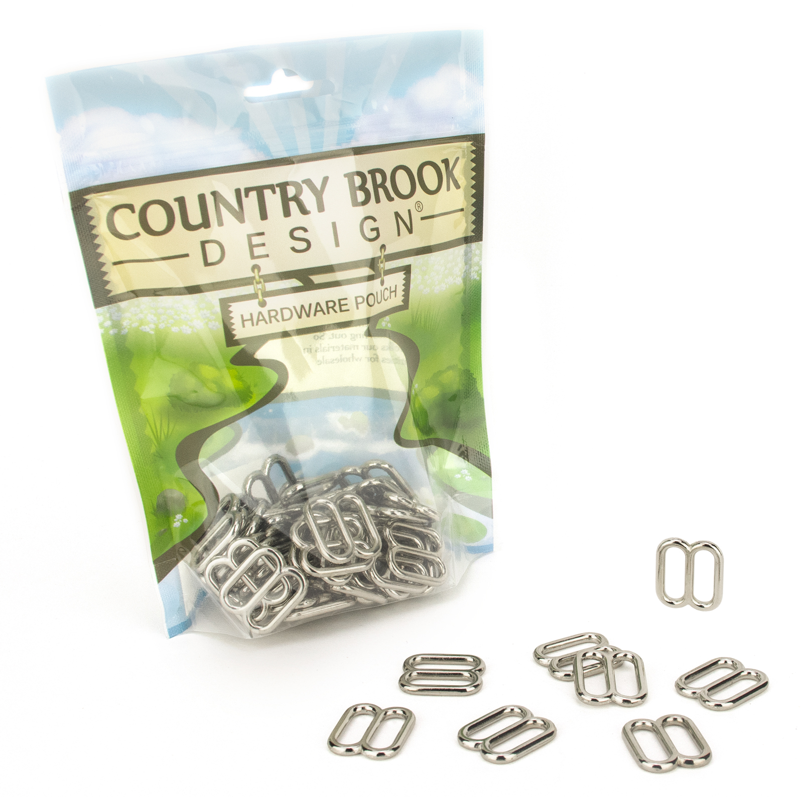 Country Brook Design® 3/4 Inch Metal Round Wide-Mouth Triglide Slides