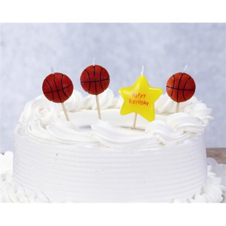 Biedermann & Sons C1609B Basketball Theme Birthday Candles