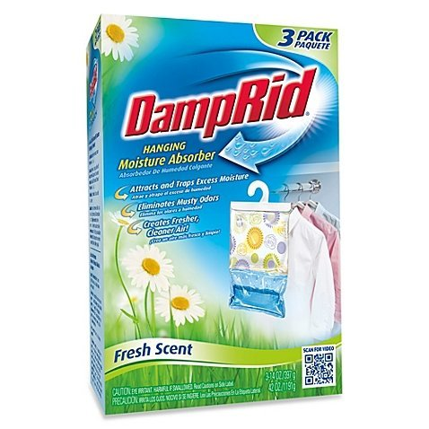 Damp Rid Hanging Moisture Absorber in Fresh Scent (Set of 3), Eliminates unpleasant odors and traps excess moisture By DampRid