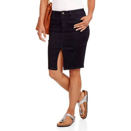 699fcf8ad4ec06 Nevermind - Women's Uptown Denim Pencil Skirt - Walmart.com