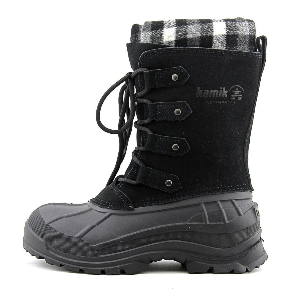 Kamik Calgary Women  Round Toe Synthetic Black Winter Boot
