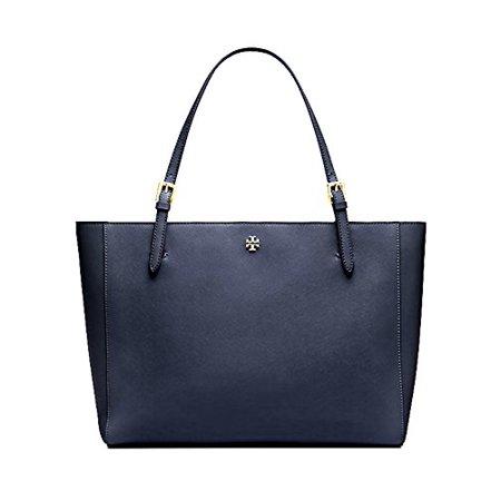 Tory Burch Emerson Small Buckle Tote Saffiano Leather Handbag