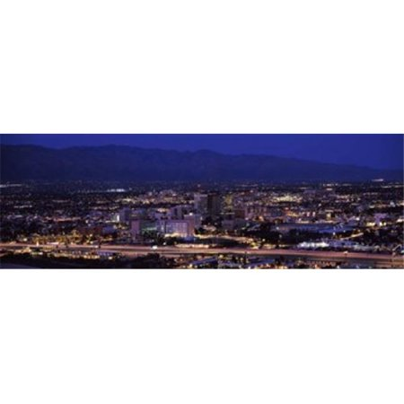 Aerial view of a city at night  Tucson  Pima County  Arizona  USA Poster Print by  - 36 x 12