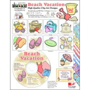 ScrapSMART Beach Vacation Clip-Art CD-ROM, Colorful Illustrations for Scrapbook, Craft, Sewing