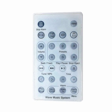 New Replaced Remote Control compatible with B-o-s-e Wave Radio/CD Music System AWRCC1 AWRCC2