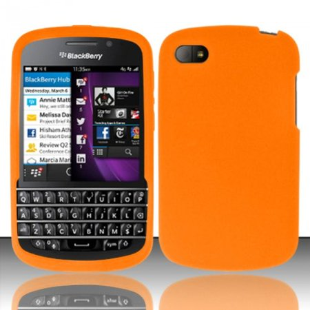 Silicone Skin Case for Blackberry Q10 - Orange - Orange Blackberry Faceplates