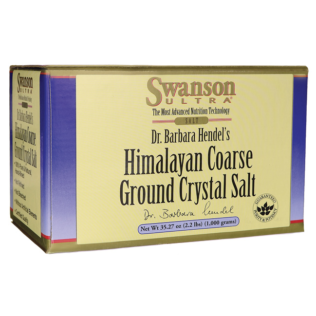 Swanson Himalayan Coarse Ground Crystal Salt 35.27 oz (1,000 grams) Salt