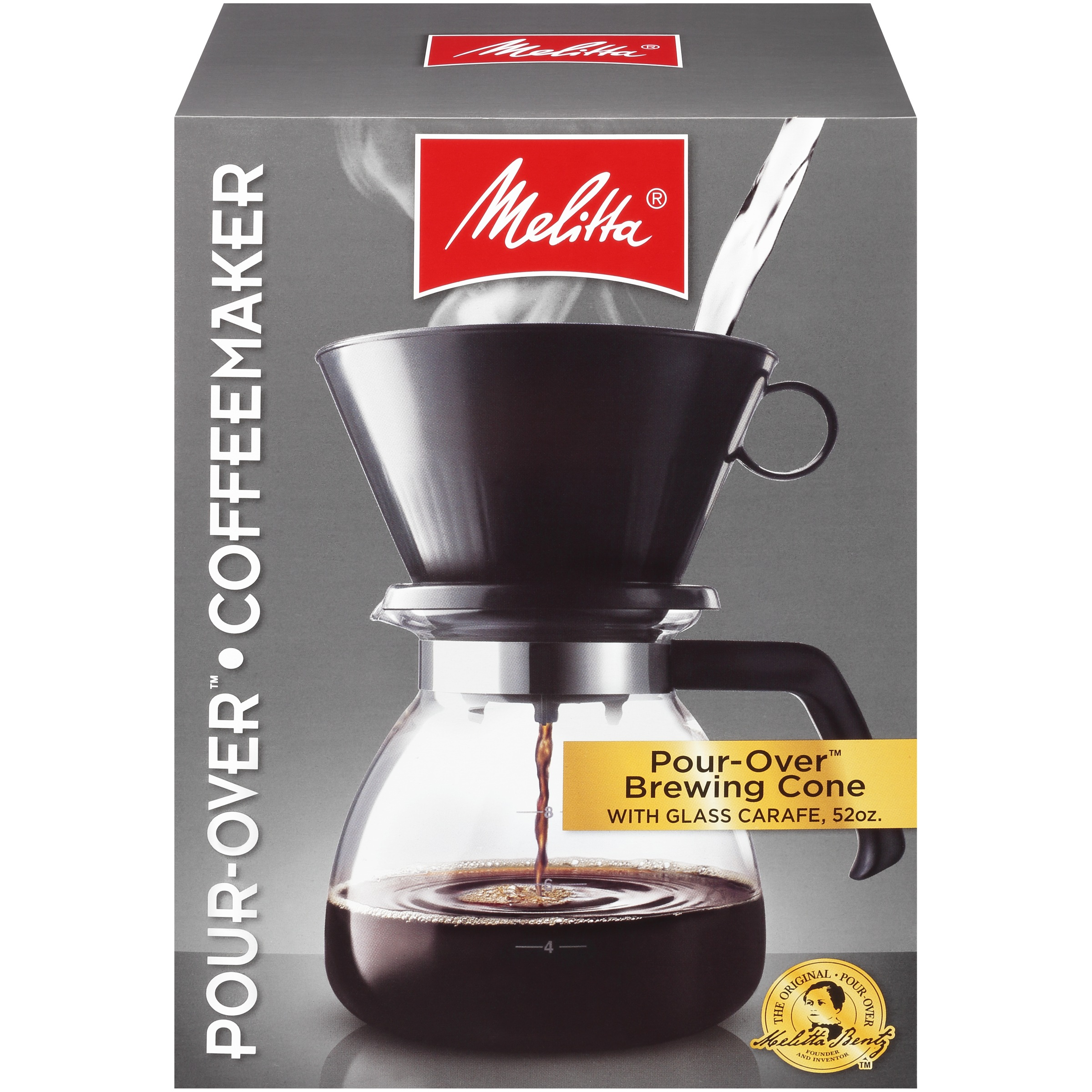 Melitta® Pour-Over™ Brewer 10 Cup Coffee Maker with Glass Carafe Box