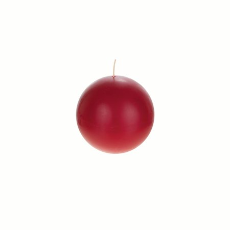 Mega Candles Unscented Red Ball Candle | Hand Poured Premium Wax Candles 4