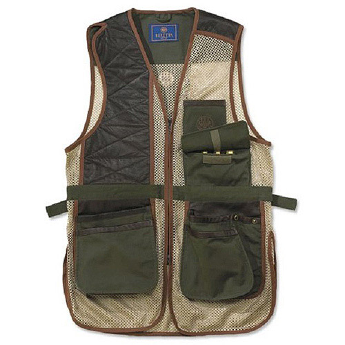 Beretta 2-Tone Clays Men's Right-Hand Shooting Vest, Loden and Khaki thumbnail