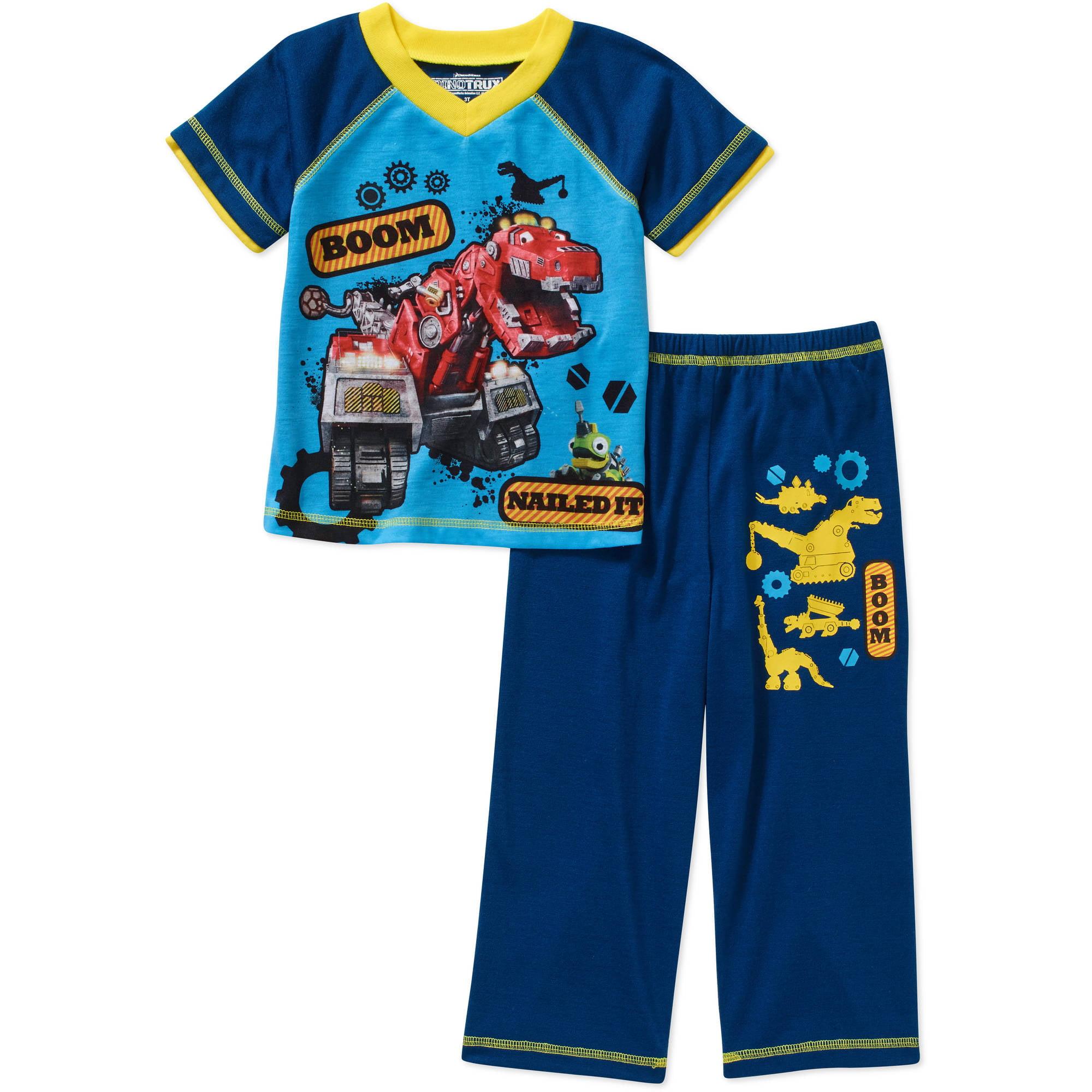 Dinotrux Toddler Boy Short Sleeve Pajama Set - Walmart.com