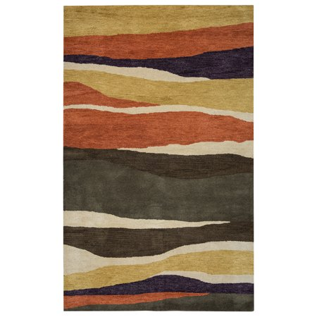 Rizzy Home Multi Colored  Rug In Wool 8' x 8' Round 8' Round Wool Rug
