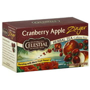 Celestial Seasonings Cranberry Apple Zinger Caffeine Free Herbal Tea, 20 count, (Pack of 6)