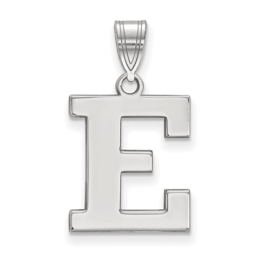 White Sterling Silver Charm Pendant Michigan NCAA Eastern University 15 mm 8