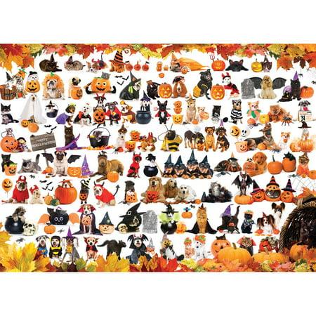 Printable Halloween Puzzle Worksheets (Eurographics Halloween Pets Jigsaw)