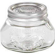 Leifheit Small 17 oz Glass Wide-Mouth Mason Jar for Canning, Set of 6, Transparent