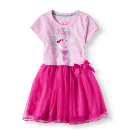 Short Sleeve Tutu Dress (Little Girls)](Tutu Dress Girl)