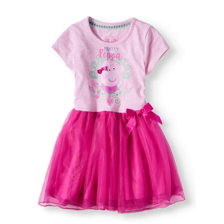Short Sleeve Tutu Dress (Little Girls) - Corset Tutu Dresses