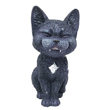 Sinister Pets Grinning Black Kitten Cat Figurine As Collectible Decorative Sculpture For Dollhouse Unique Gift Animal Lovers