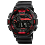 SKMEI 1243 Digital Electronic Men Watch Fashion Casual Outdoor Sports Male Wristwatch Dual Time Date Week Countdown Chrono Alarm 5ATM Waterproof Backlight Multifunctional Watches Relogio Masculino