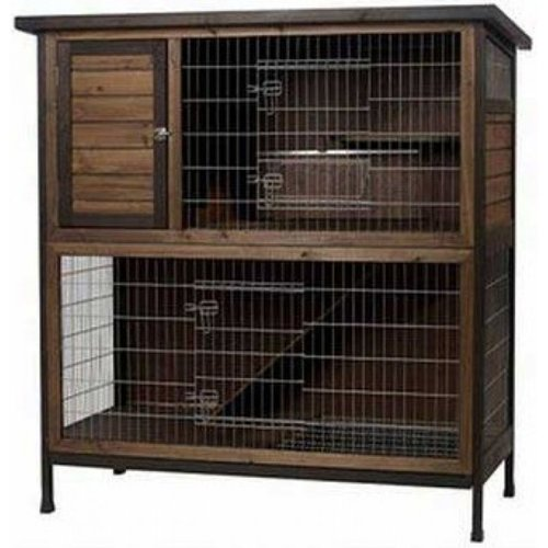Super Pet Premium Two Story Rabbit Hutch 48 Inch L x 24 Inch W x 50.5 Inch H