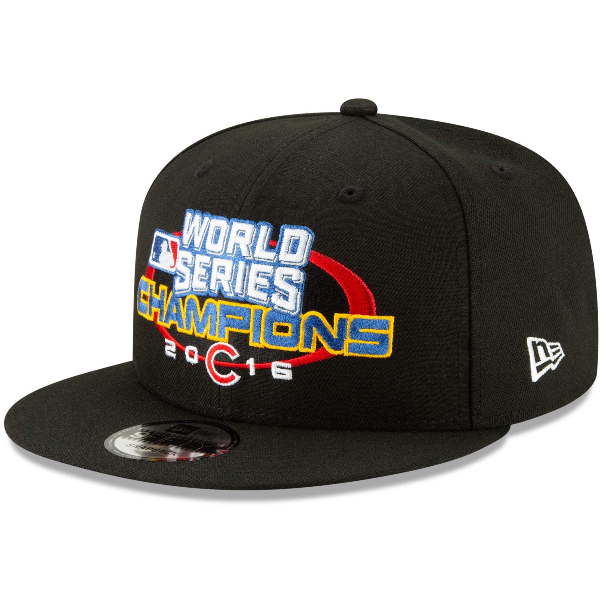 Chicago Cubs New Era World Series Champions Flashback 9FIFTY Adjustable Snapback Hat - Black - OSFA
