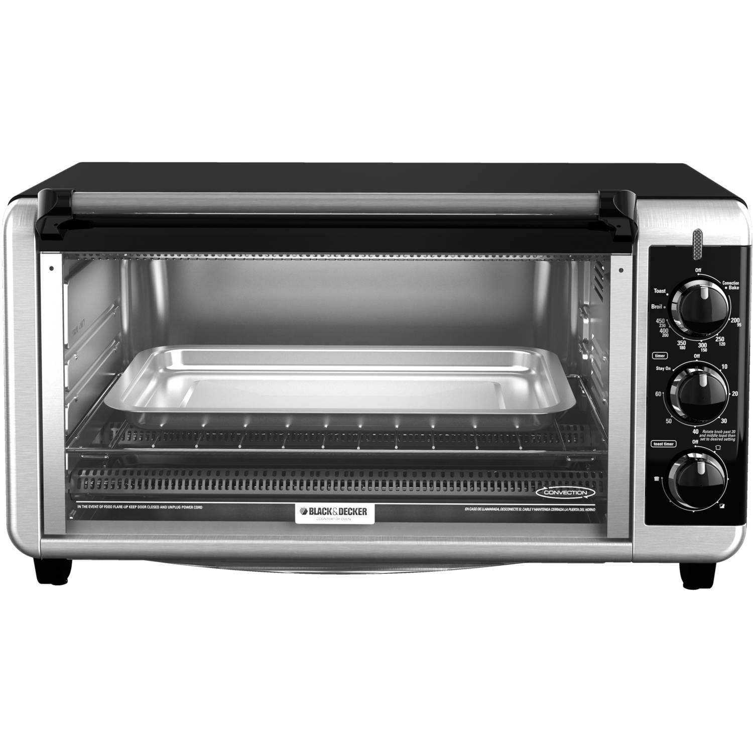 Black & Decker Extra Wide 8-Slice Toaster Oven, Stainless Steel