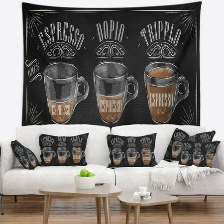 DESIGN ART Designart 'Espresso Kraf Black' Wall Tapestry