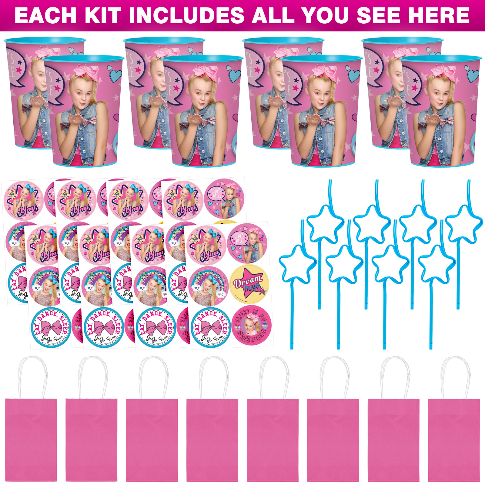 JoJo Siwa Party Favor Kit (For 8 Guests)