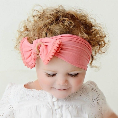 Cute Baby//Girl Boy Kids Toddler Bow Hairband Headband Turban Big Knot Head-Wrap
