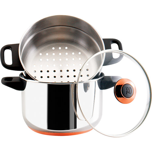 Paula Dean Signature Stainless Steel 3-Quart Stack and Steamer Set