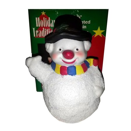 Holiday Traditions Hand-painted Porcelain Snowman Figurine 4 3/4""