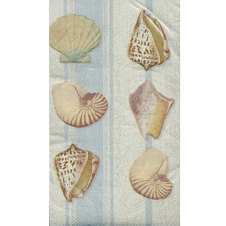 Valentines Seashell (Summer 'Seashell Stripe' Guest Napkins (20ct) )