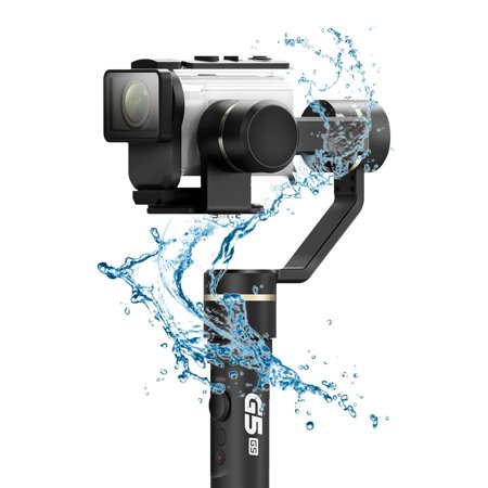 G&s Design - FeiyuTech G5 GS 3-Axis Single Handheld Gimbal Stabilizer Splash-Proof Design Support Mobile Time-lapse Photography for Sony AS50/FDR-X3000/AS300 and Other Similar Action Cameras