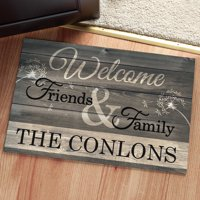 Personalized Doormat - Welcome Friends & Family 2 Sizes to Choose From