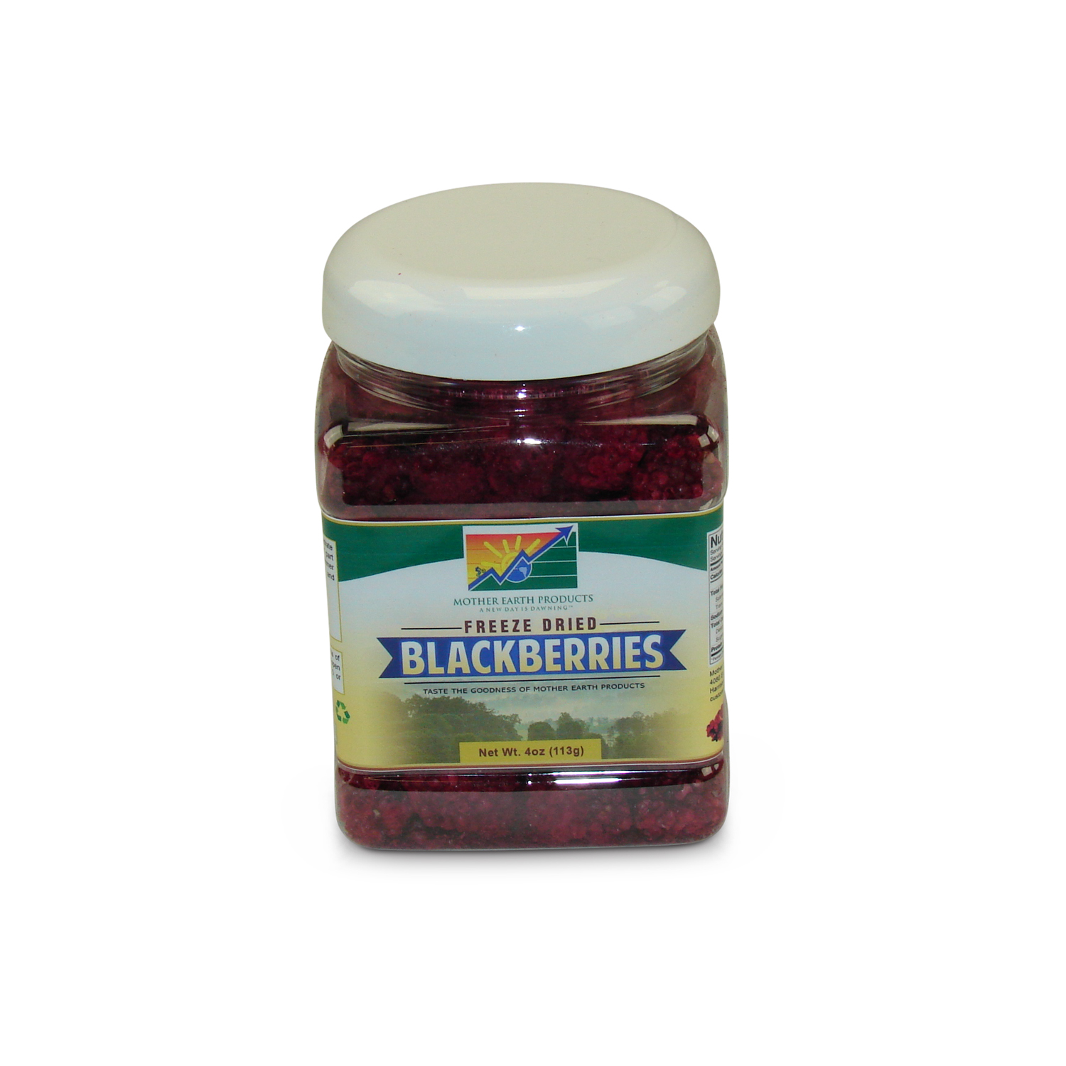 Mother Earth Products Freeze Dried Blackberries, jar by Mother Earth Products