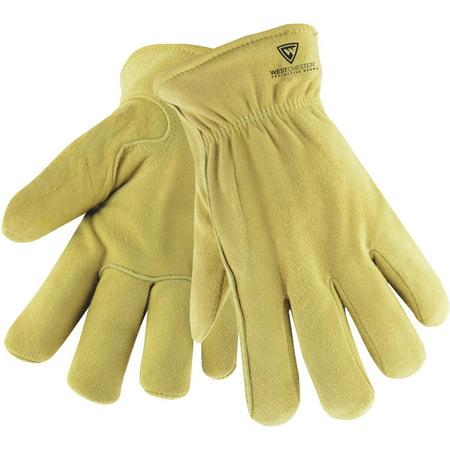 Wells Lamont 1091L Mens Suede Deerskin Leather Winter Work Glove Deerskin Leather Work Gloves