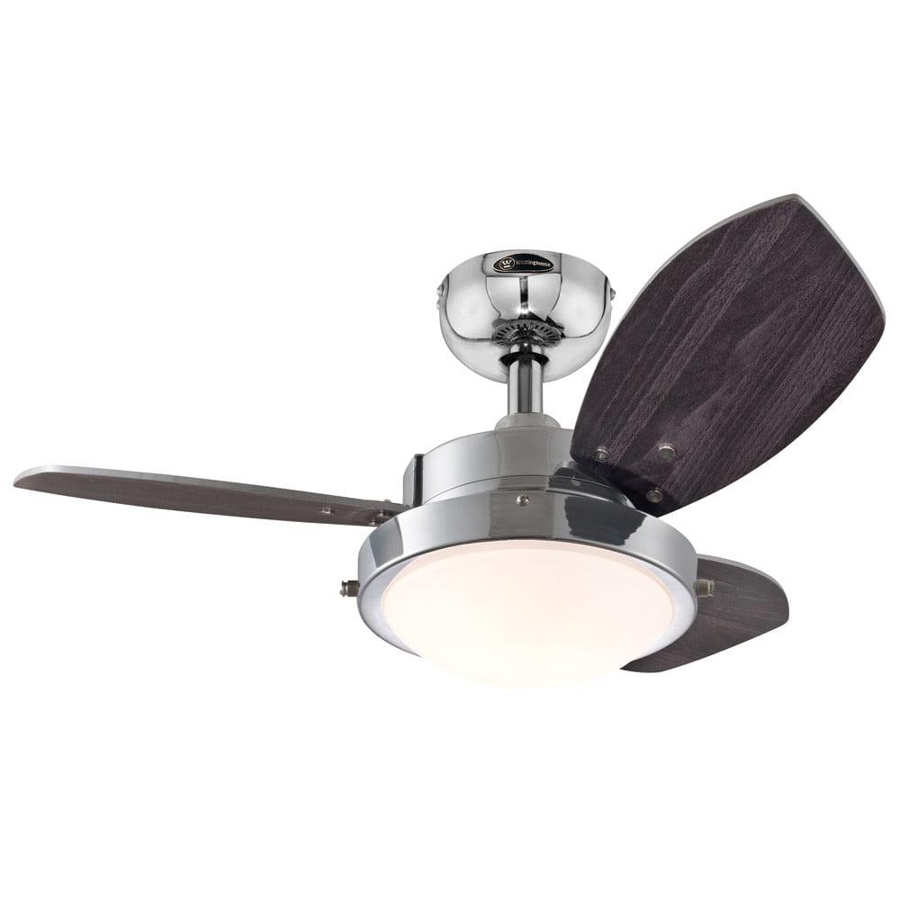 Chrome 3 Blade Reversible Ceiling Fan