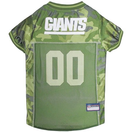 reputable site d4130 609fc Pets First NFL New York Giants Camouflage Jersey For Dogs, 5 Sizes  Available, Pet Shirt For Hunting, Hosting a Party, or Showing off your  Sports Team