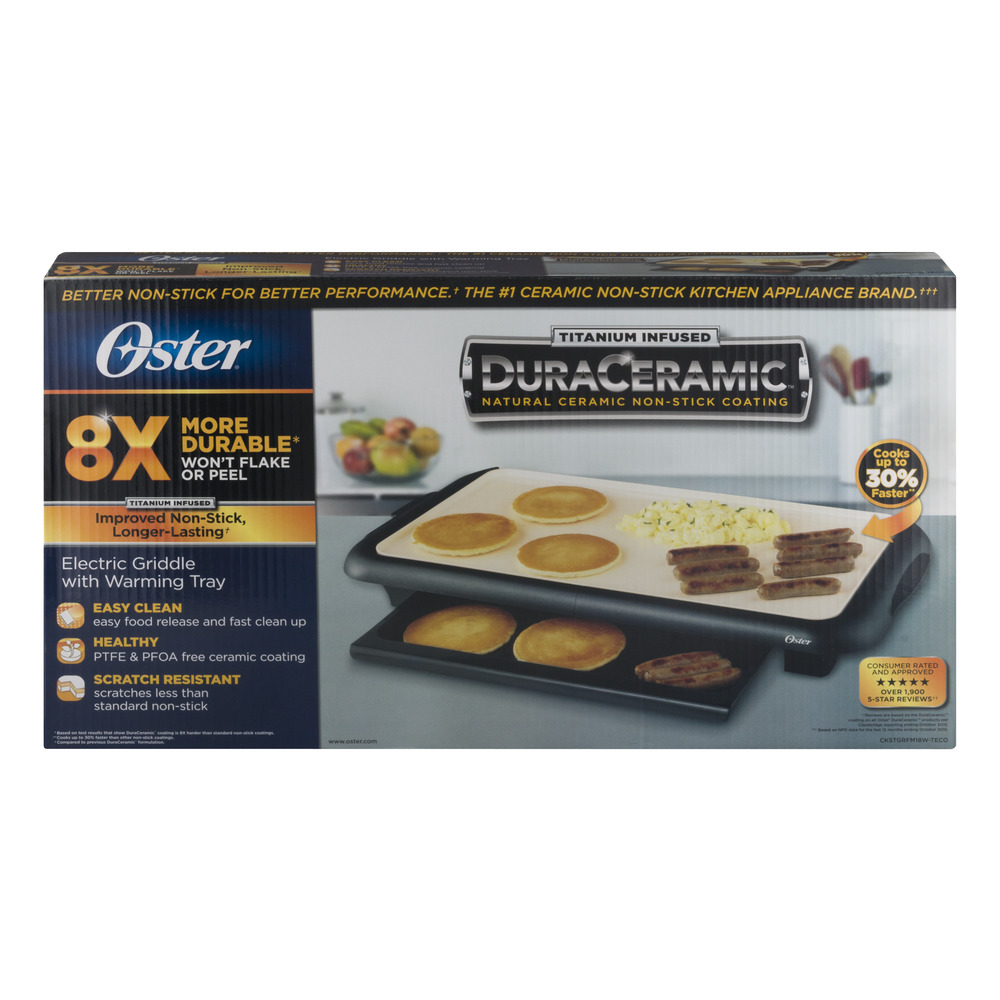 Oster Electric Griddle with Warming Tray, 1.0 CT