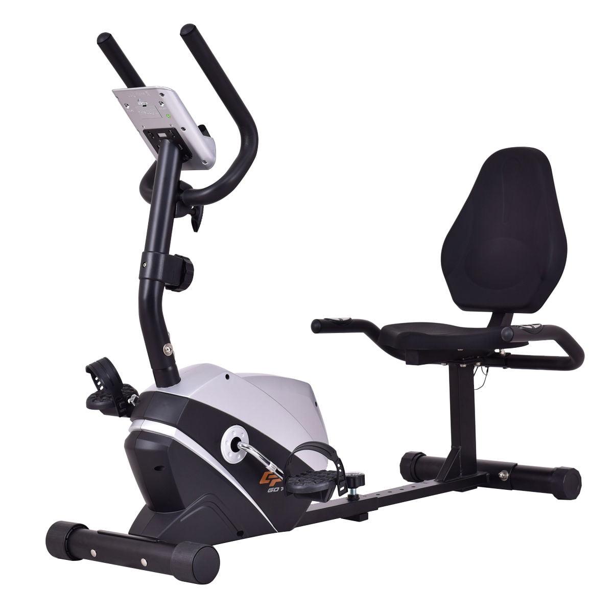 Goplus Recumbent Exercise Bike Stationary Bicycle Magnet Cardio Workout Fitness