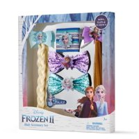 Disney Frozen 2 Hair Accessory Gift Set with Bows, Clips and Elastics